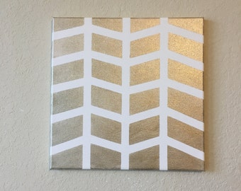 Arrow geometric golden painting