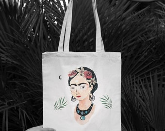Frida Kahlo, Frida Kahlo Bag, Frida Kahlo Tote Bag, Frida Kahlo Art, Tote Bag, Tote Bag Canvas, Tote Bag Handmade