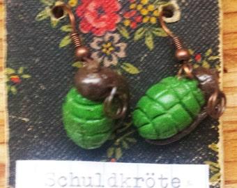 Hand-Grenade Earrings