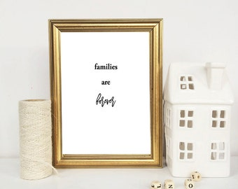 Families are forever || Printable Home Decor || LDS Home