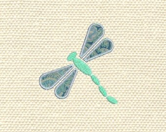 Machine embroidery applique dragonfly