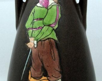 Stellmacher Teplitz Pottery Enameled Amphora