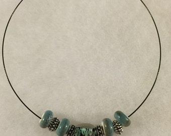 Beautiful Green-Black Beaded Necklace