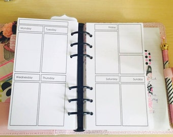 Planner Insert (Personal)- Vertical WO2P for Filofax, Kikki.K and more