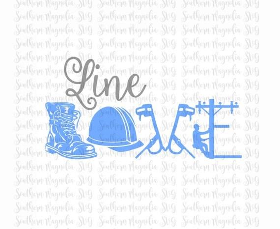 Line Love Lineman Wife Of A Lineman Silhouette Cricut