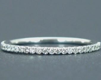 Diamond Eternity Band, Eternity Diamond Wedding Band, Diamond Wedding Ring, Diamond Anniversary Ring, Diamond Stacking Ring, Promise Ring