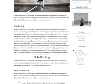Premade Blogger Template Responsive Minimal Blogspot for Lifestyle, Fashion, Book, Travel, Food Blogger with Free Installation - Urbanism