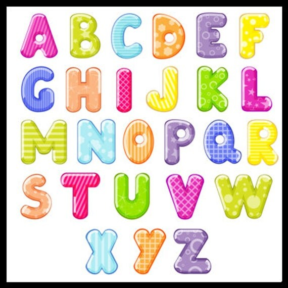 27 colorido alfabeto letras letras colores alfabeto de arco - Lettres alphabet originales ...