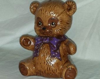 Bear / w purple bowtie Bank