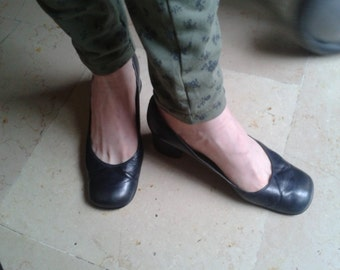 small pumps heels all leather, T 38, 80s