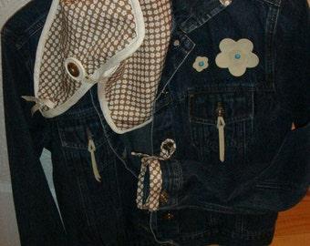 Jacket woman, jeans jacket