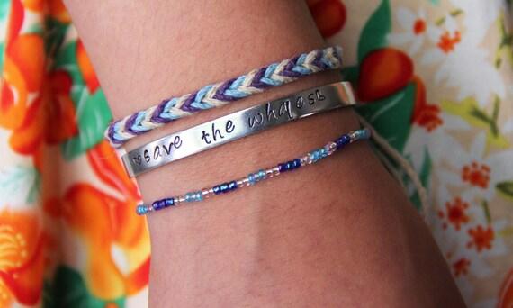 Save The Whales Animal Awareness Activist Bracelet Set