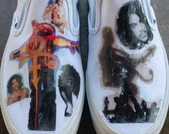 Prince Memorabilia Custom VANS Shoes Womens 8 Mens 6.5 Artist Formerly Known...Gift