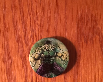 The Hulk button style refrigerator magnet, The Hulk refrigerator magnet, The Hulk kitchen magnet, The Hulk magnet, Avengers magnet