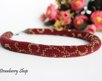 "Bead Crochet Necklace ""Wenzel"""
