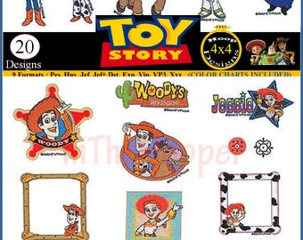 DISNEY TOY STORY Embroidery Designs Pes, Hus, Jef, Dst, Exp, Jef+, Vip, Vp3, Xxx