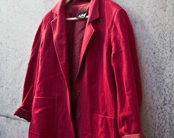 80s DALKEITH Red Winter Coat // Size 16