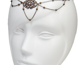 Jewel of head copper front