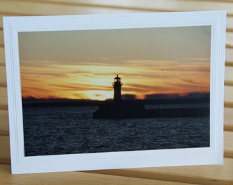 Photo Greeting Card | Handmade Card | Blank Card | Photo Note Card | Photography Card | Blank Photo Card | Duluth | Lighthouse | Minnesota