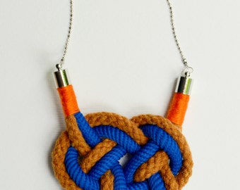 Nautical rope necklace
