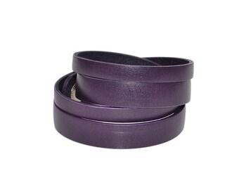Double Wrap Bracelet / Leather Wrist Cuff, Purple Leather Bracelet / Mens Leather Bracelet, Leather Bracelet Women, Leather Cuff Bracelet