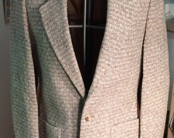 1970s Tweed Wool Men's Raffinati Jacket