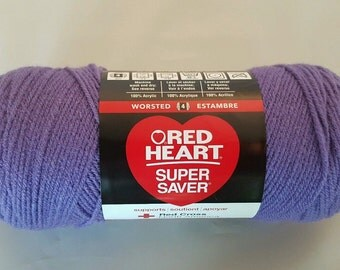 Red Heart Super Saver Yarn LAVENDER 7 oz Worsted Weight 4