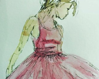 Little Dancer Watercolor