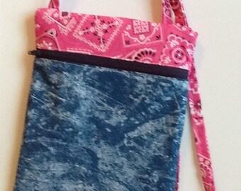 Denim Cross Body Shoulder Bag.