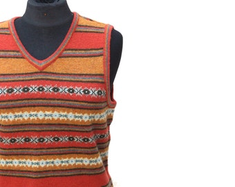 Vintage never-been-worn orange striped vest