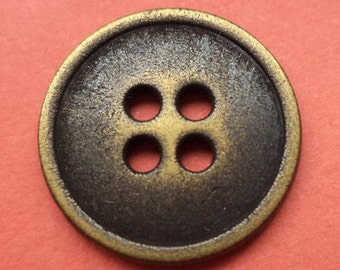 10 metal buttons brass 15 mm (5564) button metal buttons