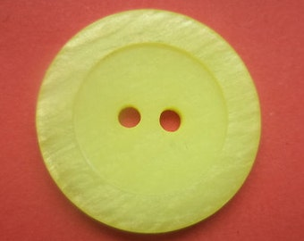 8 yellow buttons 23mm (684) coat buttons button yellow