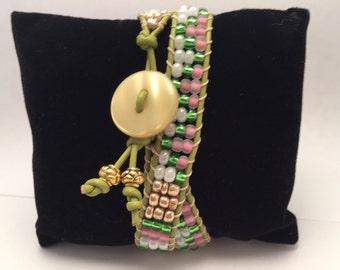 May Flowers - Handmade Beaded Bracelet