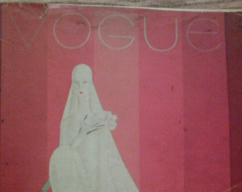 1928 Vogue magazine with Benito cover