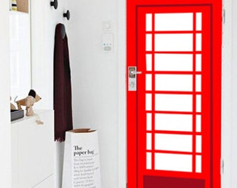 Vinyl Door Decal, Door Sticker Phone Booth, Door Stickers, Front Door  Sticker,