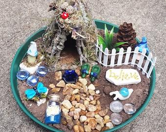 Fairy House Kit, Fairy Garden Kit, Fairy Garden Accessories, Fairy Kit, Miniature Garden Supplies, Terrarium Kit, Miniature Garden Items