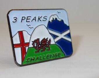 Three Peaks Challenge ~ Pin / Lapel Badge ~ 3 Peaks Challenge