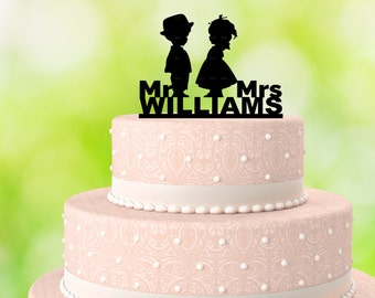 Wedding Cake Topper - Marriage Cake Topper - Personalized Cake Topper - Mr Mrs Cake Topper - Acrylic Cake Topper - Personalized Wedding