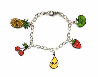 Fresh fruity charm bracelet