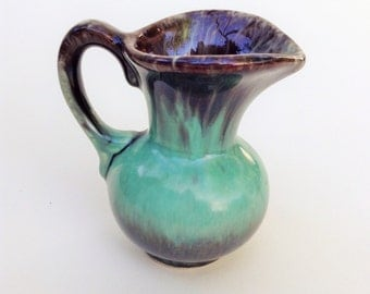 Miniature Brown/Teal Ornamental Jug // Eclectic Home // Home Accessories.