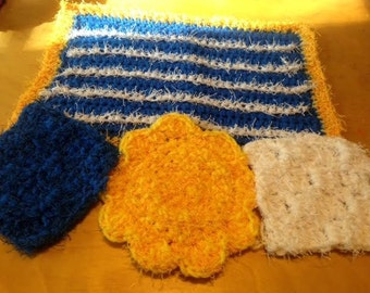 Sunny Day Washcloth and Scrubby set