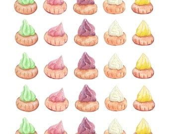 Gem Biscuit Stickers (set of 5 colours)