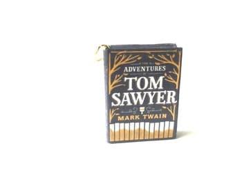 Miniature Tom Sawyer Book Necklace/Keychain