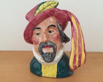Vintage Artone England Sir Walter Raleigh Toby Jug