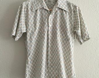 ON SALE 70s western cowboy floral shirt