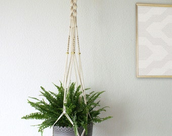"""Macrame hanging basket 160 cm / macrame plant hanger 63 """""""