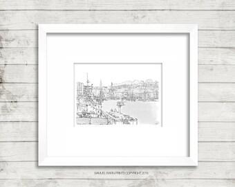 Harbourmaster - Bristol, (Landscape)