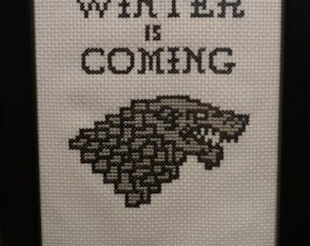 House Stark-Game of Thrones cross stitch