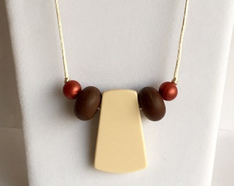 The Nieves- Navajo, Brown, Bronze Teething Necklace/Nursing Necklace