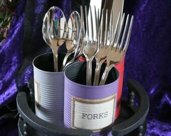 Gothic - Steampunk cutlery caddy / lazy susan / carousel